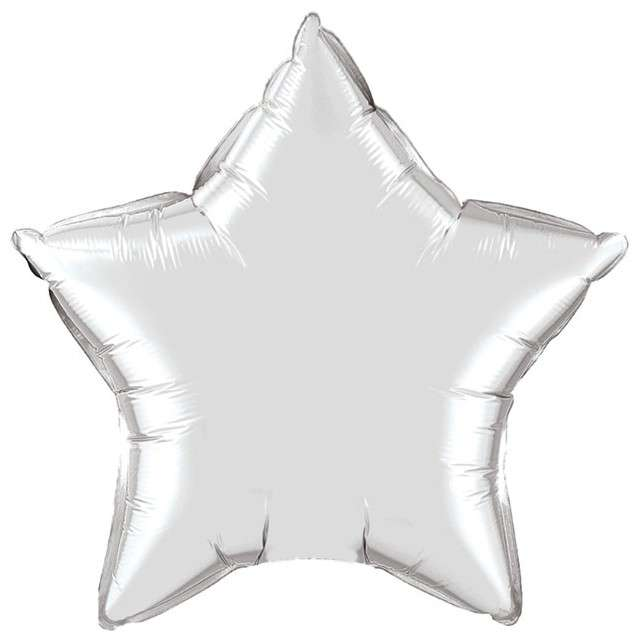 "Balon foliowy ""Gwiazda"", srebrna, FLEXMETAL, 18"" STR"