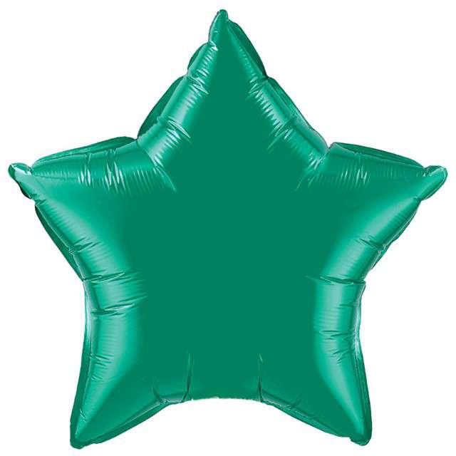 """Balon foliowy """"Gwiazda"""", zielona, FLEXMETAL, 18"""" STR"""
