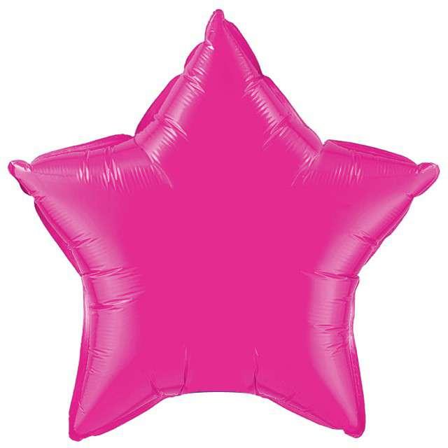 """Balon foliowy """"Gwiazda"""", różowa, FLEXMETAL, 18"""" STR"""