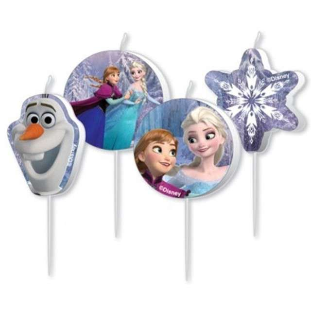 """Świeczka na tort """"Frozen"""", AMSCAN, 4 szt"""