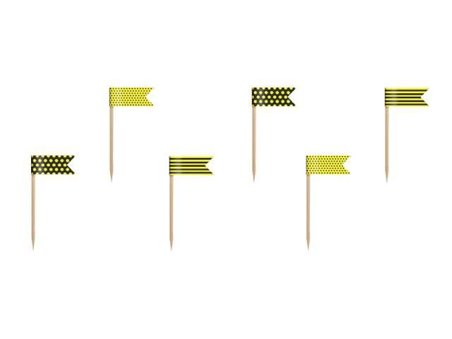 """Szpilki drewniane """"Pszczółka"""", 7 cm, 6 szt"""