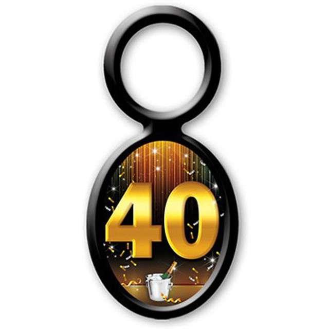 """Zawieszki na alkohol, """"Urodziny 40"""", 20 szt"""