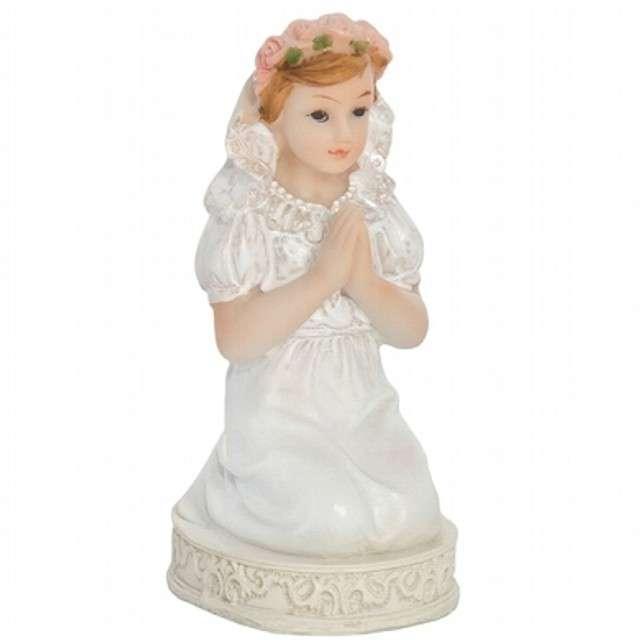 """Figurka na tort """"I Komunia Św. dziewczynka"""", 11 cm"""