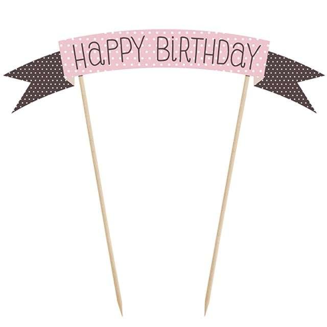 "Dekoracja tortu piker ""Happy Birthday"", Sweets, 16 cm"