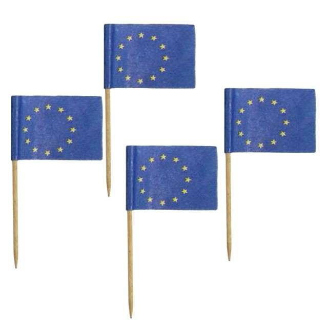 "Szpilki drewniane ""Flaga UE"", 6,8 cm, 144 szt"