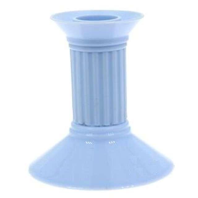 Świecznik plastikowy, błękitny