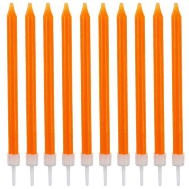 _xx_Świeczki urodzinowe 10/10, pomarańczowe, 8.6 cm