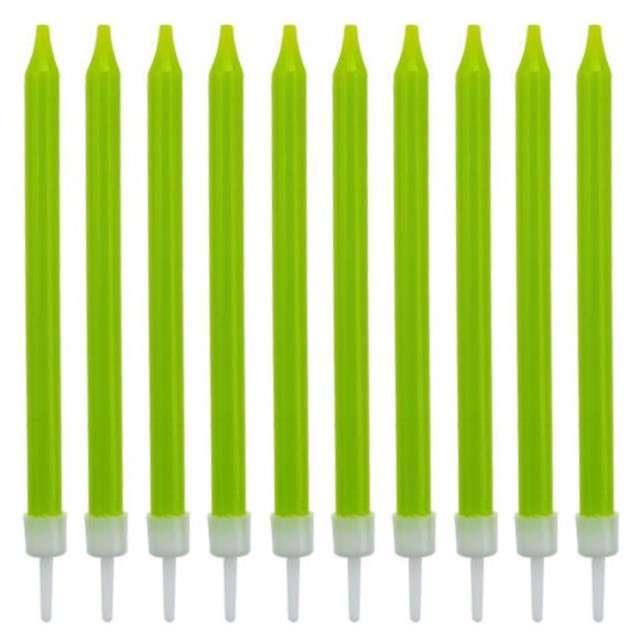 _xx_Świeczki urodzinowe 10/10, zielone, 8.6 cm