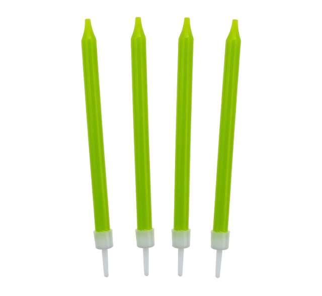 _xx_Świeczki urodzinowe 10/10 zielone 8.6 cm