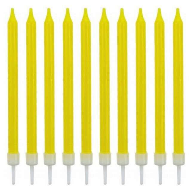 _xx_Świeczki urodzinowe 10/10, żółte, 8.6 cm