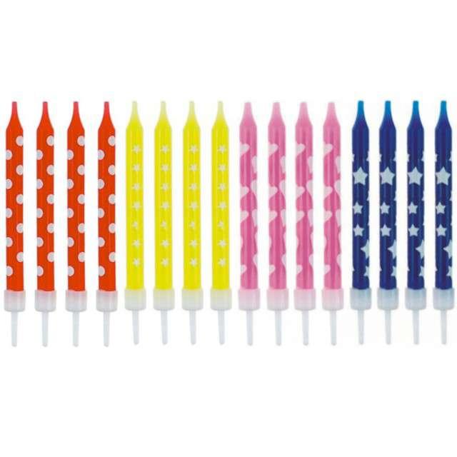 _xx_Świeczki urodzinowe 16/16, 4 wzory, 6 cm