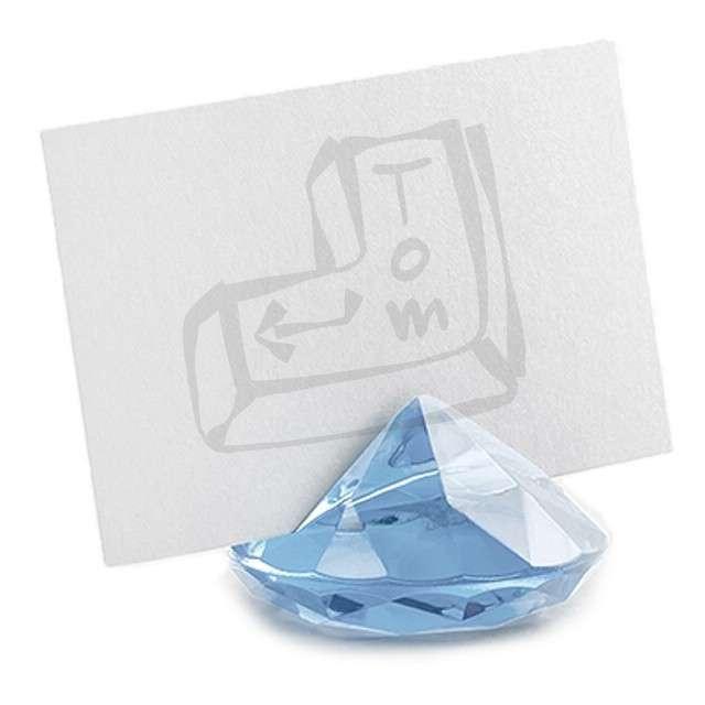 """Stojak na wizytówki """"Diament"""", błękitny, 40 mm, 10 szt"""
