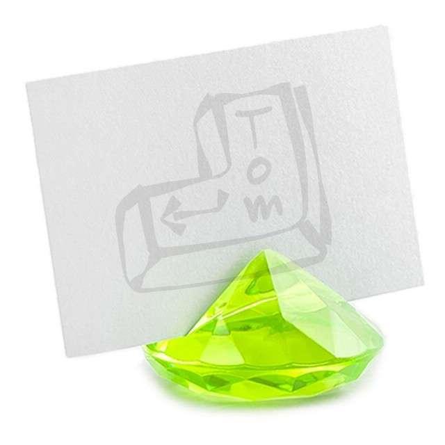 """Stojak na wizytówki """"Diament"""", zielone jabłuszko, 40 mm, 10 szt"""