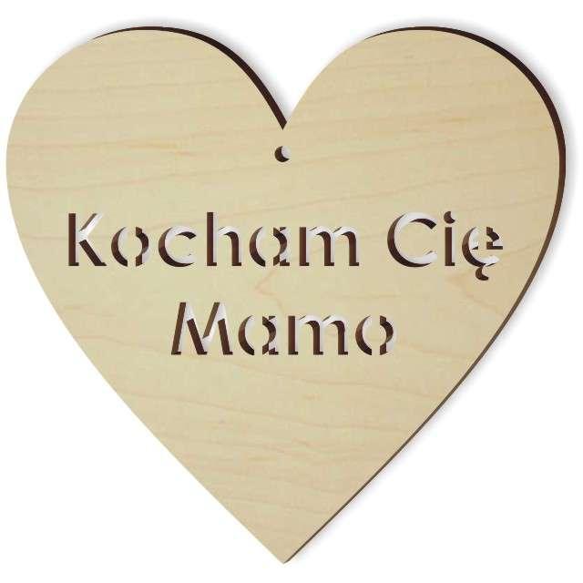 """Zawieszka drewniana """"Kocham Cię Mamo"""", 103x100 mm"""