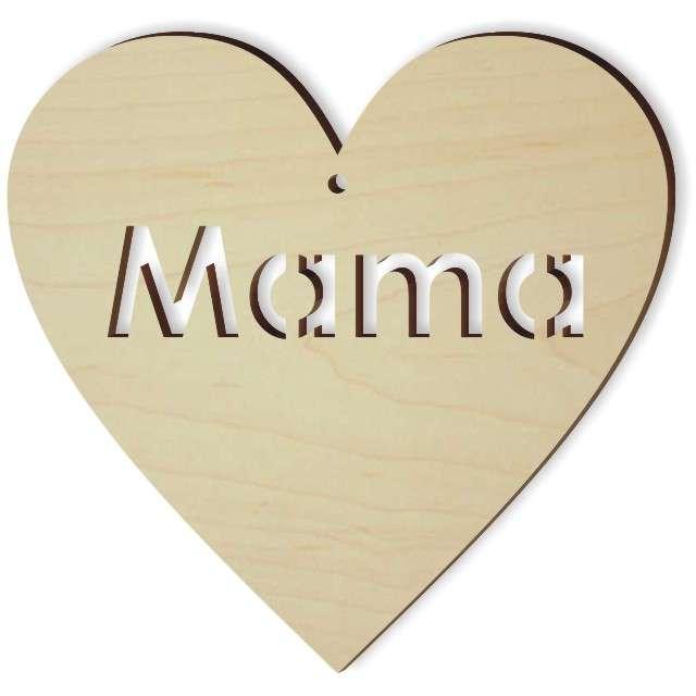"""Zawieszka drewniana """"Mama"""", 103x100 mm"""