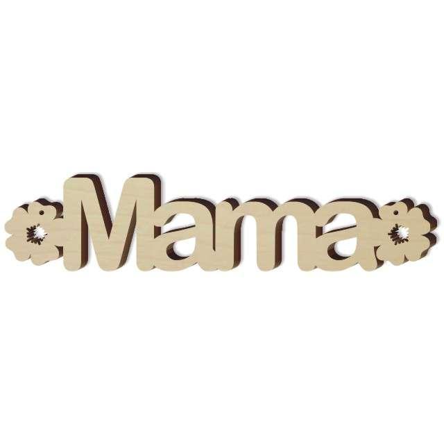 """Zawieszka drewniana """"Mama i kwiatki"""", 172x39 mm"""