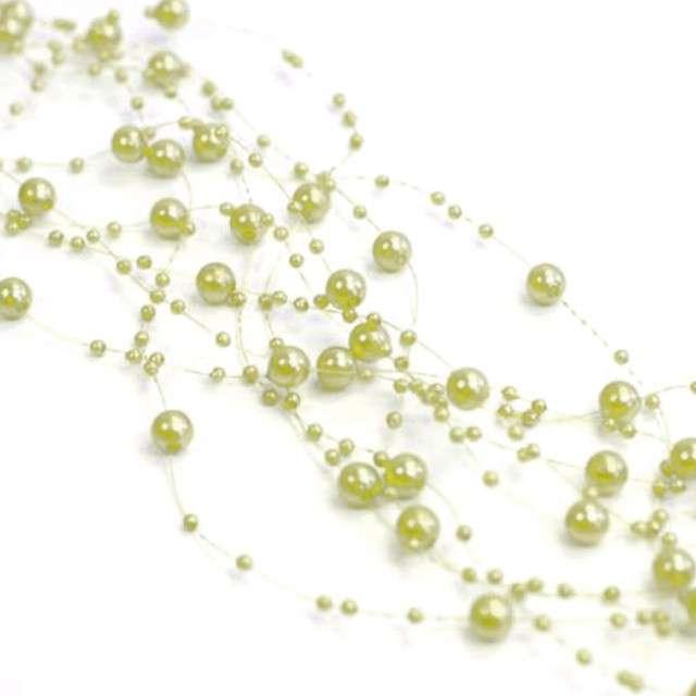 Girlandy perłowe, oliwkowe jasne, 1,3 m, 5 szt
