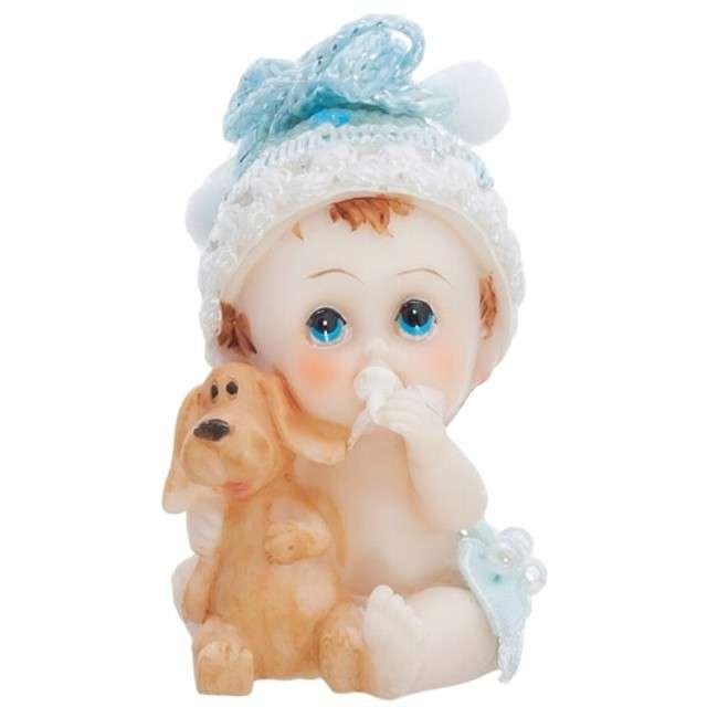 """Figurka na tort """"Chłopiec z pieskiem"""", 6 cm"""