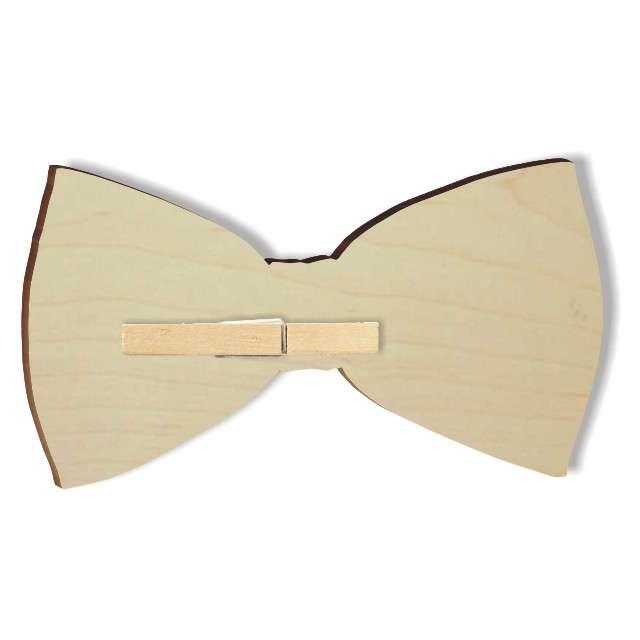 Mucha z drewna Kropeczki 10 cm