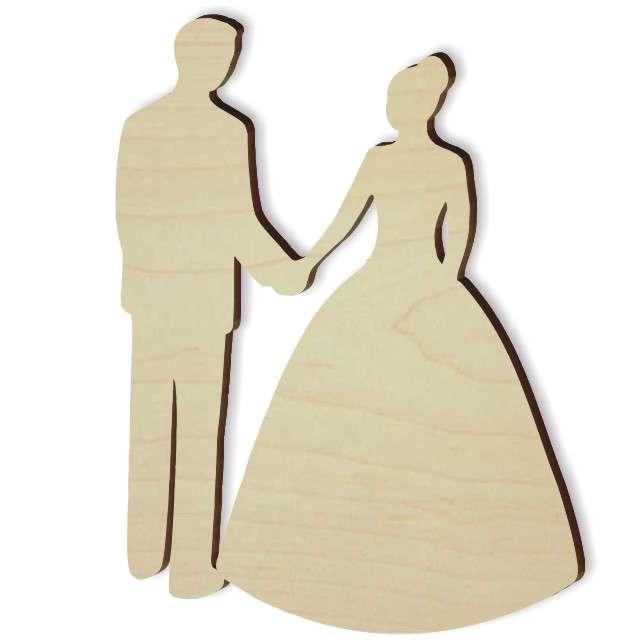 """Scrapki drewniane """"Młoda Para"""", 90 mm, 1 szt"""