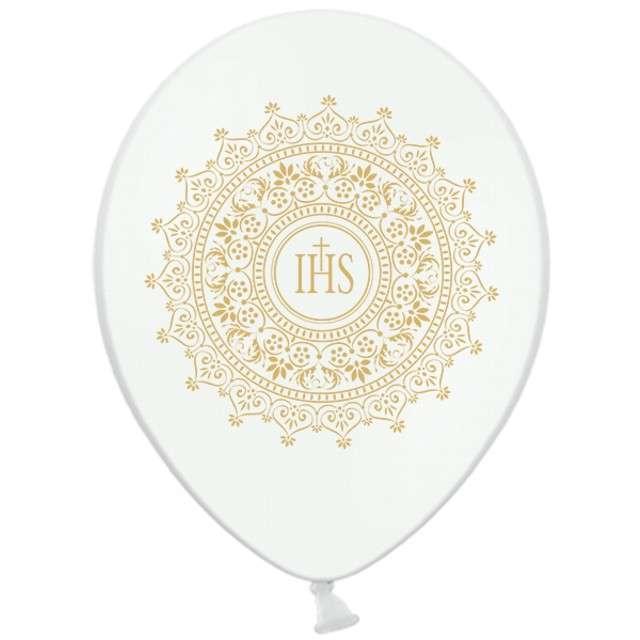 Balony 14 IHS BELBAL Metallic White 6szt