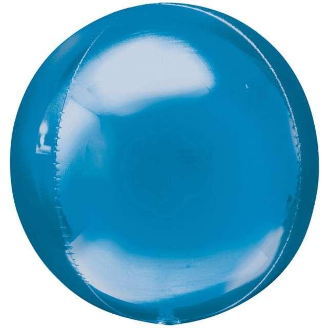 """Balon foliowy """"Kula"""", niebieska, AMSCAN, 16"""" ORB"""