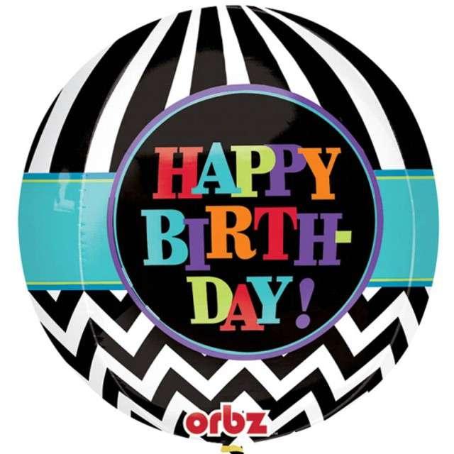 """Balon foliowy """"Happy Birthday"""", AMSCAN, 16"""" ORB"""