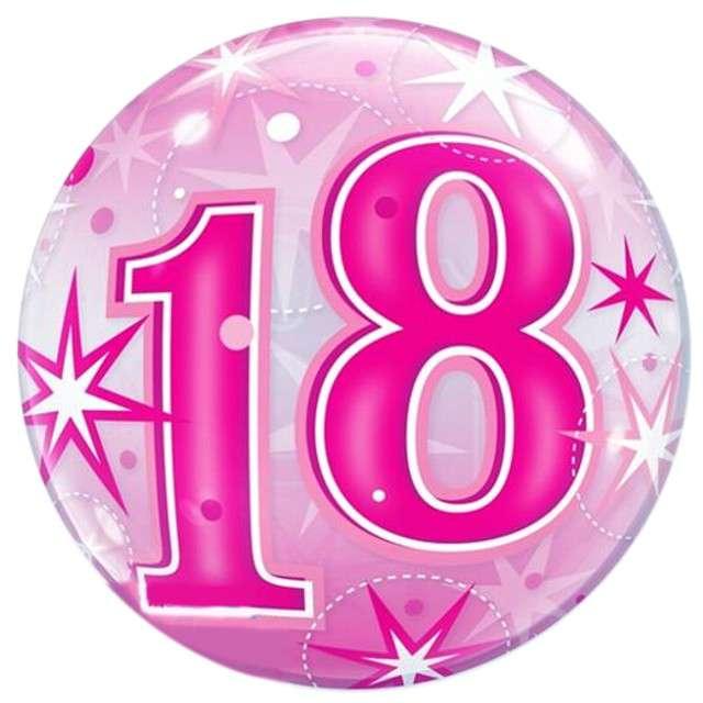 """Balon foliowy """"18 Urodziny"""", Qualatex Bubbles, 22"""""""