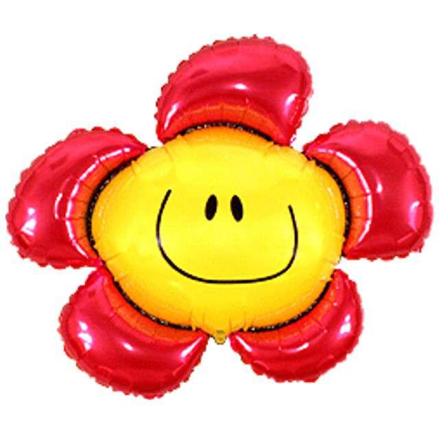 """Balon foliowy """"Kwiatek"""", czerwony, FLEXMETAL, 41"""" SHP"""
