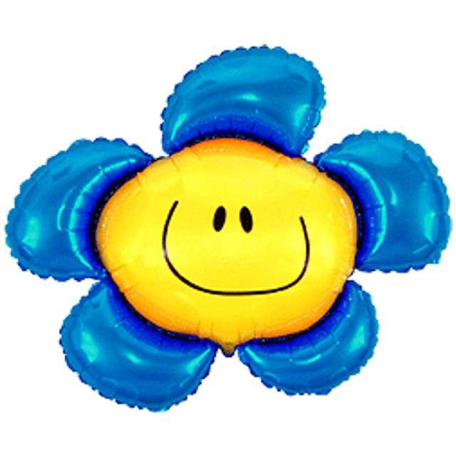 """Balon foliowy """"Kwiatek"""", niebieski, FLEXMETAL, 41"""" SHP"""