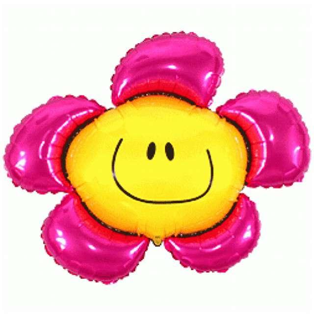 """Balon foliowy """"Kwiatek"""", różowy, FLEXMETAL, 41"""" SHP"""