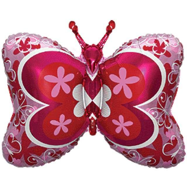 """Balon foliowy """"Motyl Deco"""", różowy, FLEXMETAL, 35"""""""
