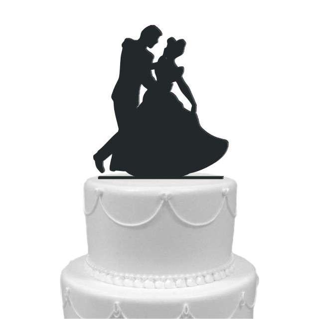 """Dekoracja na tort """"Para Młoda 2"""", czarna, 12,5 cm"""