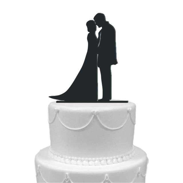 """Dekoracja na tort """"Para Młoda 3"""", czarna, 13 cm"""
