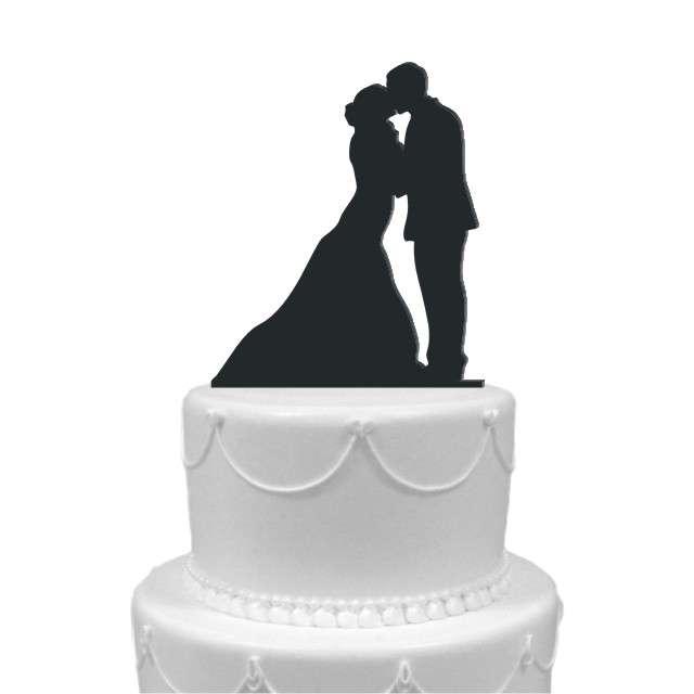"""Dekoracja na tort """"Para Młoda 5"""", czarna, 12 cm"""