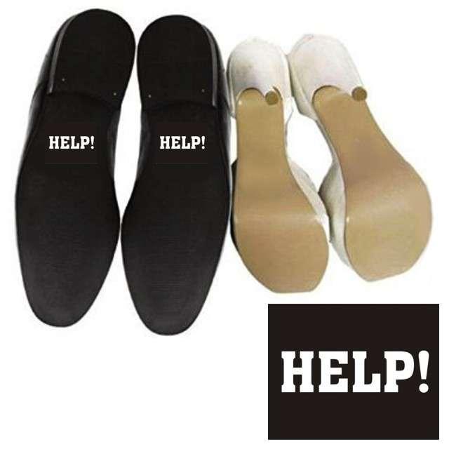 "Naklejki na buty ""HELP!"", 2 szt"