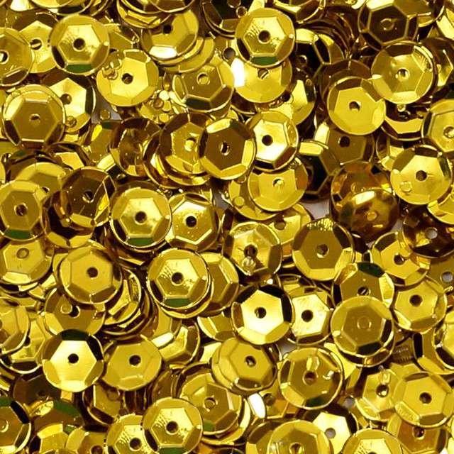 Cekiny Classic Metalic złote 6 mm 15 g DekoracjePolska