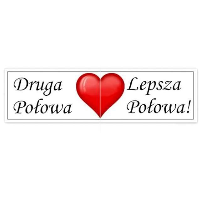 """Fotogadżet karteczki """"Druga Połowa / Lepsza Połowa"""", 2 szt"""