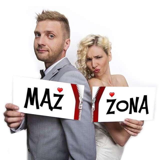 """Fotogadżet karteczki """"Mąż / Żona"""", 2 szt"""