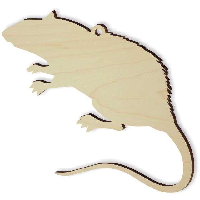 """Zawieszka drewniana """"Szczur 1"""", 80 x 76 mm"""