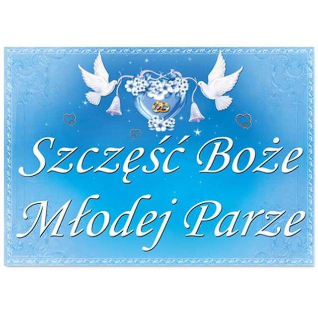 """Plakat """"Szczęść Boże Młodej Parze"""", 48 x 68 cm"""