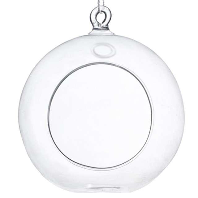 """Dekoracja szklana """"Kula świecznik"""", 10 cm, 4 szt"""