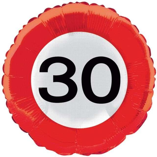 """Balon foliowy """"Urodziny 30"""", FOLAT, 18"""" RND"""