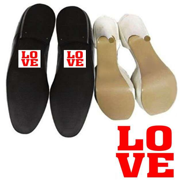 "Naklejki na buty ""LOVE"", 2 szt"