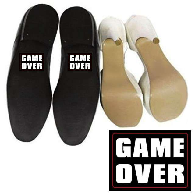 "Naklejki na buty ""GAME OVER"", 2 szt"