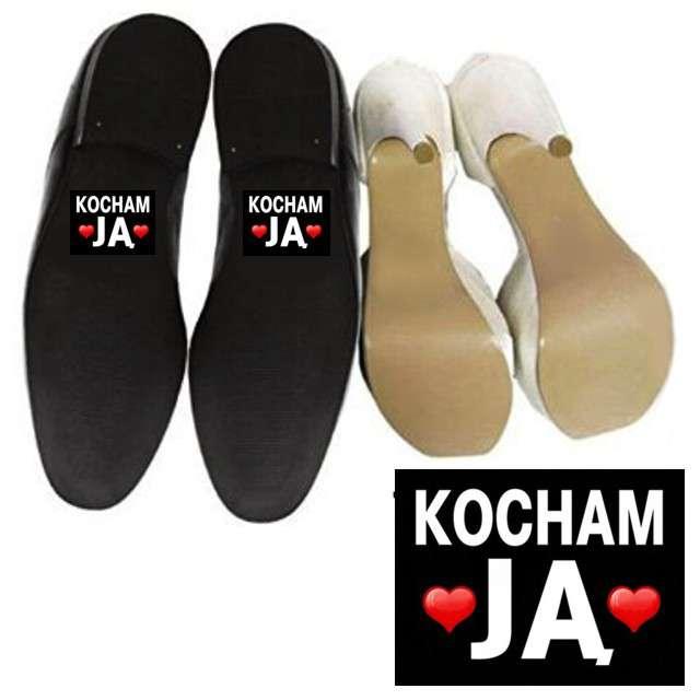 """Naklejki na buty """"Kocham JĄ"""", 2 szt"""