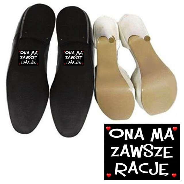 """Naklejki na buty """"Ona ma zawsze rację"""", 2 szt"""