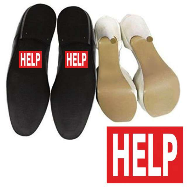 "Naklejki na buty ""HELP"", 2 szt"