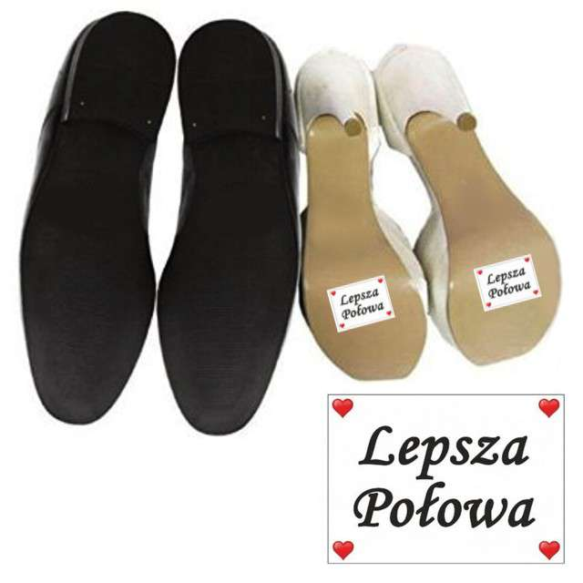 """Naklejki na buty """"Lepsza Połowa"""", 2 szt"""