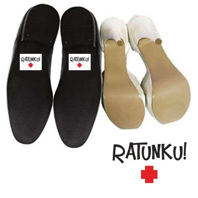 "Naklejki na buty ""Ratunku +"", 2 szt"
